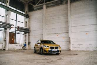 BMW X2 and the industrial buildings in Slovakia (02/2018)