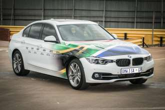 The last BMW 3 Series rolling off the line at BMW Group Plant Rosslyn (02/2018)
