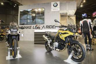 BMW Motorrad at Motosalon show 2018.