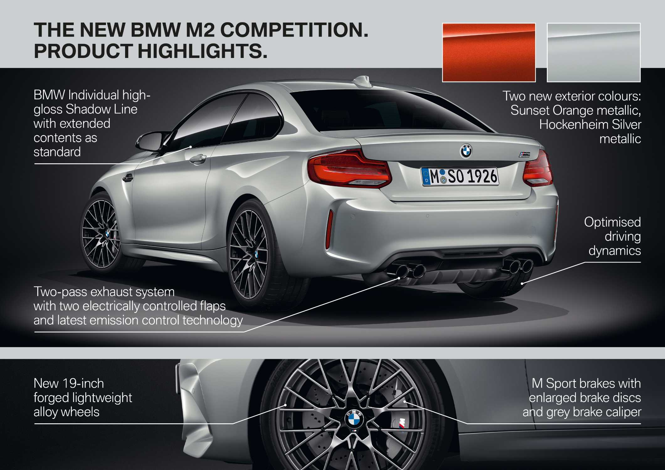 The new BMW M2 Competition (04/2018).