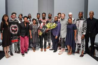 Sandile Mlambo, designer for Kumkani Bespoke, is the winner of the inaugural MINI Scouting Menswear with GQ Magazine competition. (04/2018)