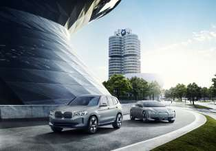 BMW Concept iX3 and BMW i Vision Dynamics