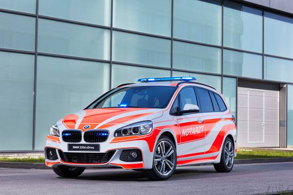 The BMW 220d xDrive Gran Tourer for the emergency physician (05/2018).