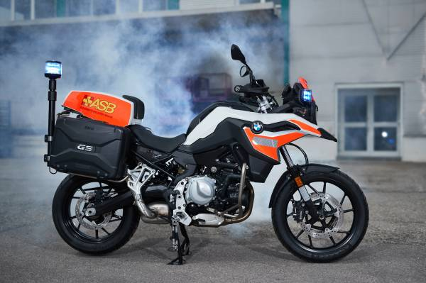 The BMW F 750 GS for emergency services (05/2018).
