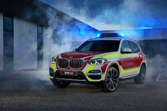 Der BMW X3 xDrive20d als Feuerwehrkommandowagen (05/2018).