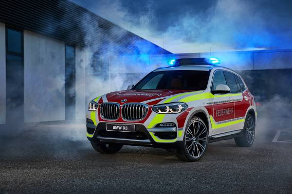The BMW X3 xDrive20d as a fire service command vehicle (05/2018).