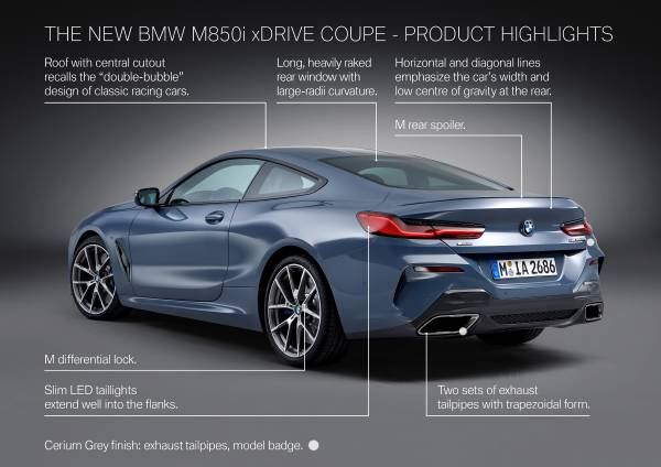 The all-new BMW 8 Series Coupe (06/2018).