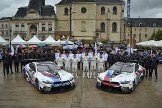 Le Mans (FRA), 11th June 2018. BMW M Motorsport, FIA World Endurance Championship (WEC), 24 Hours of Le Mans, #81 BMW M8 GTE, BMW Team MTEK, Martin Tomczyk (GER), Nicky Catsburg (NED), Philipp Eng (AUT), #82 BMW M8 GTE, BMW Team MTEK, Augusto Farfus (BRA), António Félix da Costa (POR), Alexander Sims (GBR). Verifications Techniques and Administrative Checks.
