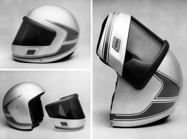 History of the BMW Motorrad rider equipment. BMW Motorrad System I helmet (1981). (07/2018)