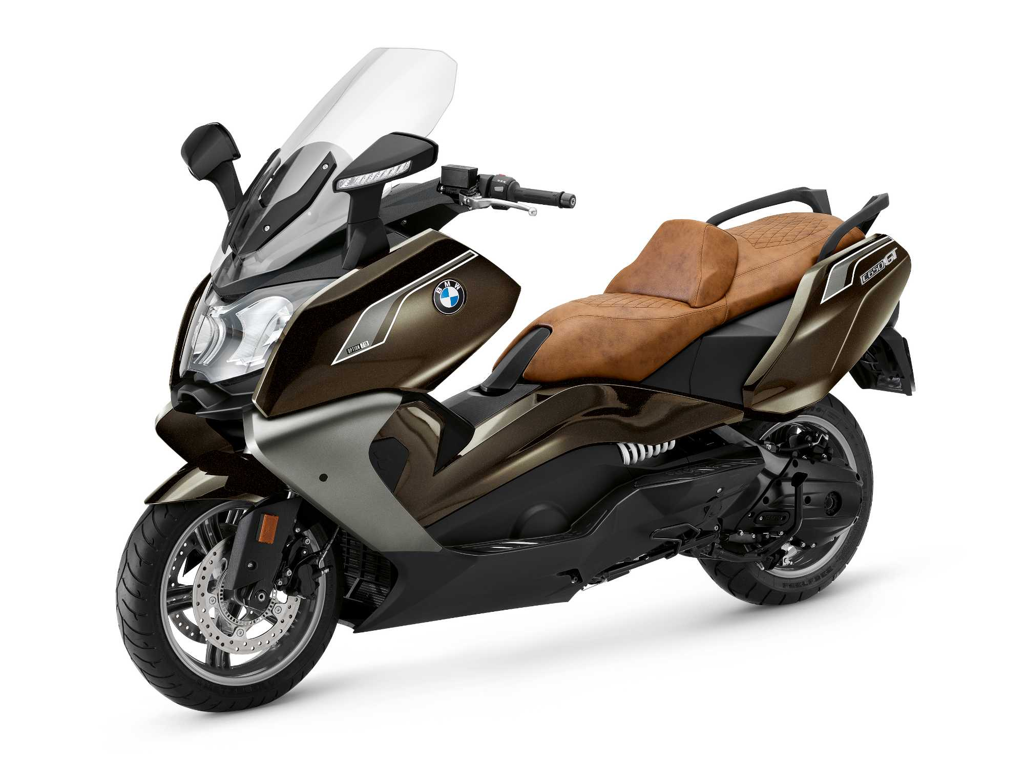 BMW C 650 GT, Option 719 Sparkling storm metallic with Option 719 brown  seat. (07/2018)