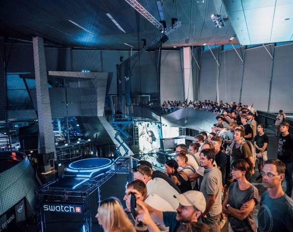 """More than 3,000 guests at the semi finals of the """"DRL Allianz World Championship 2018"""" at BMW Welt on Saturday, 28 July 2018. (BMW Group/DRL, 2018)"""