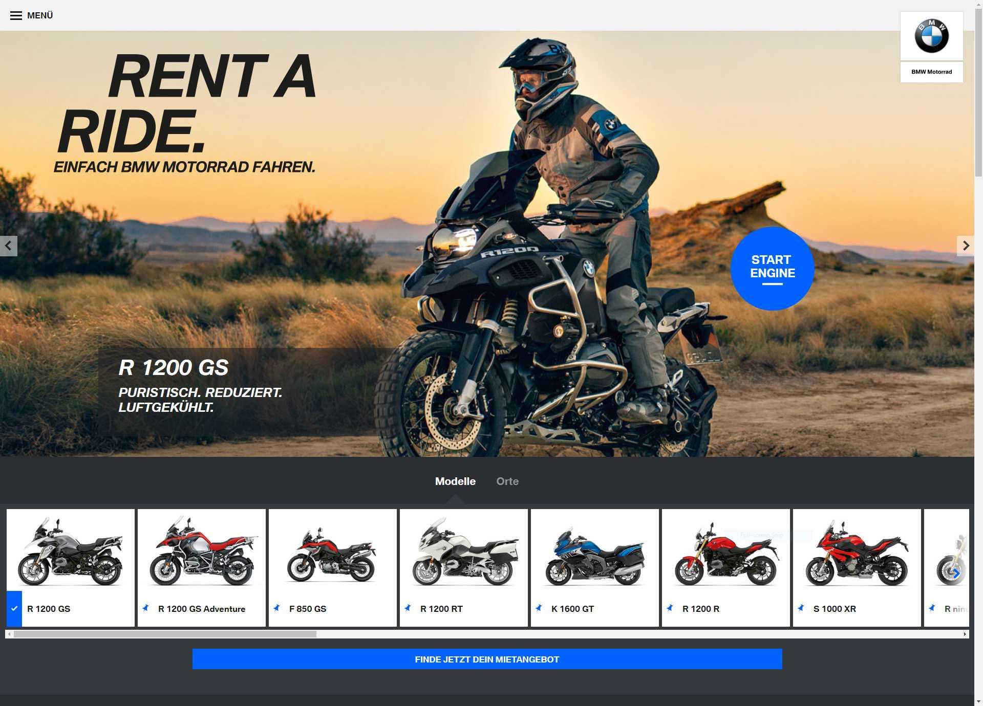"BMW Motorrad ""Rent A Ride"" (09/2018)"