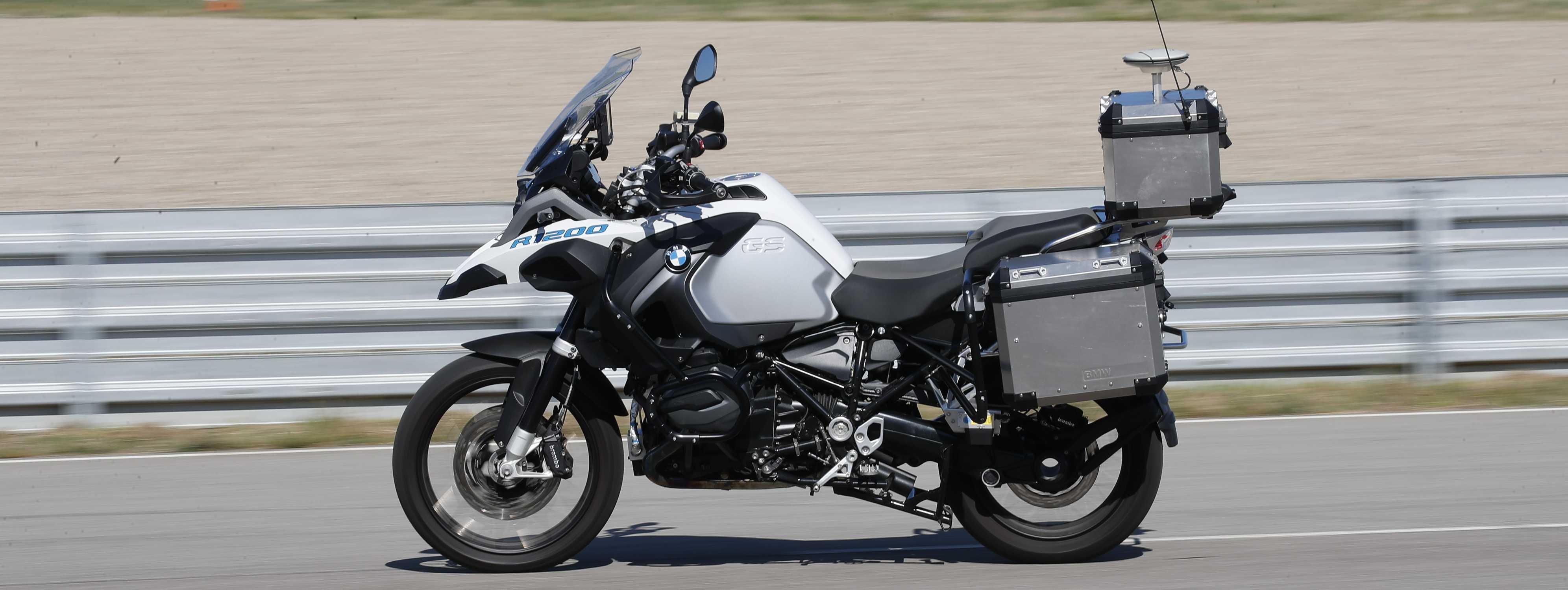 Bmw Motorrad Presents Autonomous Driving Bmw R 1200 Gs Outlook On The Future Of Motorcycle Safety And Technology In Miramas