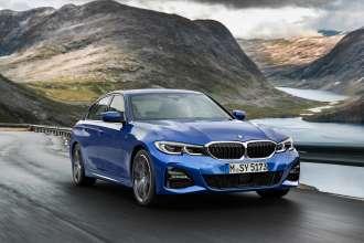 "Die neue BMW 3er Limousine, Modell M Sport, Portimao Blau Metallic, 19"" Felge Styling 791 M (10/2018)."