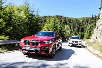 The all-new BMW X4 on beautiful mountain roads and lakes, Bulgaria (09/2018)