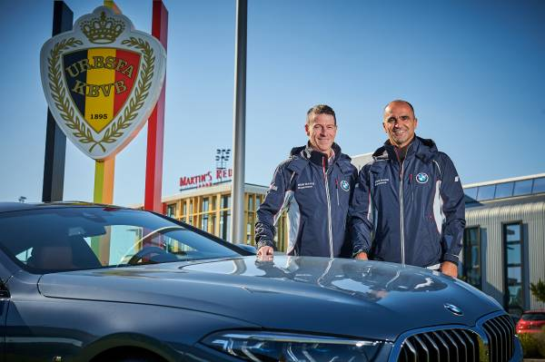 Eddy Haesendonck, President & CEO BMW Group BELUX and Roberto Martinez, Bondscoach of the Red Devils. (A2Pix/FGarrido) (09/2018)