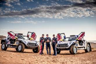 2018 Morocco test, Cyril Despres, Stephane Peterhansel, Carlos Sainz, portrait - MINI John Cooper Works Buggy - X-raid MINI JCW Team - 27.09.2018