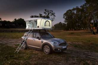 The AUTOHOME Roof Tent for the MINI Countryman makes a special appearance in South Africa. (10/2018)