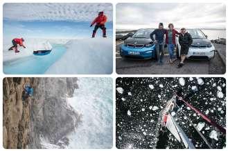 """""""Coast to Coast"""" expedition by adventurer and professional climber Stefan Glowacz (10/2018)."""