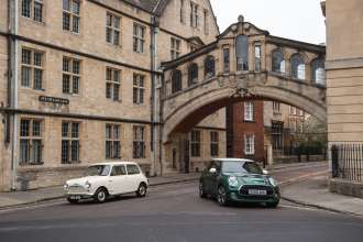 1959 Morris Mini-Minor and MINI Cooper 60 Years Edition 3 Door. (01/2019)