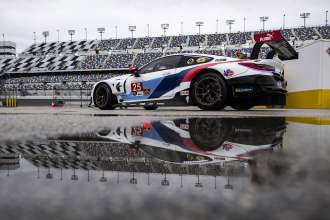 15.12.2018, Daytona December Test, Daytona International Speedway, Daytona Beach, FL (USA).  Connor de Phillippi (USA), Tom Blomqvist (GBR), Colton Herta (USA), No 25, BMW Team RLL, BMW M8 GTE.