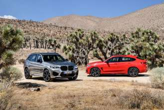 The all-new BMW X3 M Competition and the all-new BMW X4 M Competition (02/2019).
