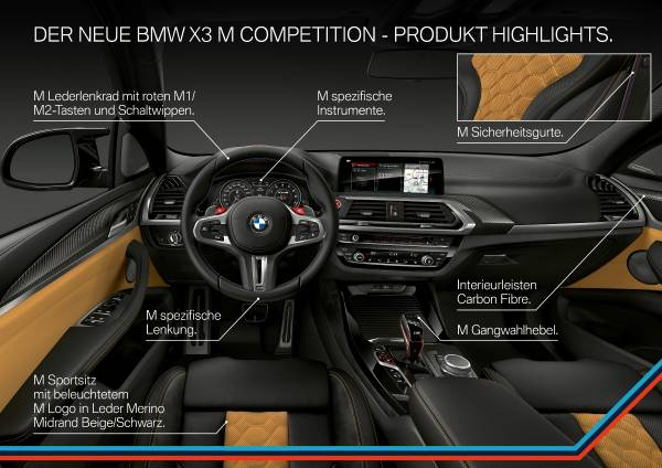 The all-new BMW X3 M Competition (02/2019).