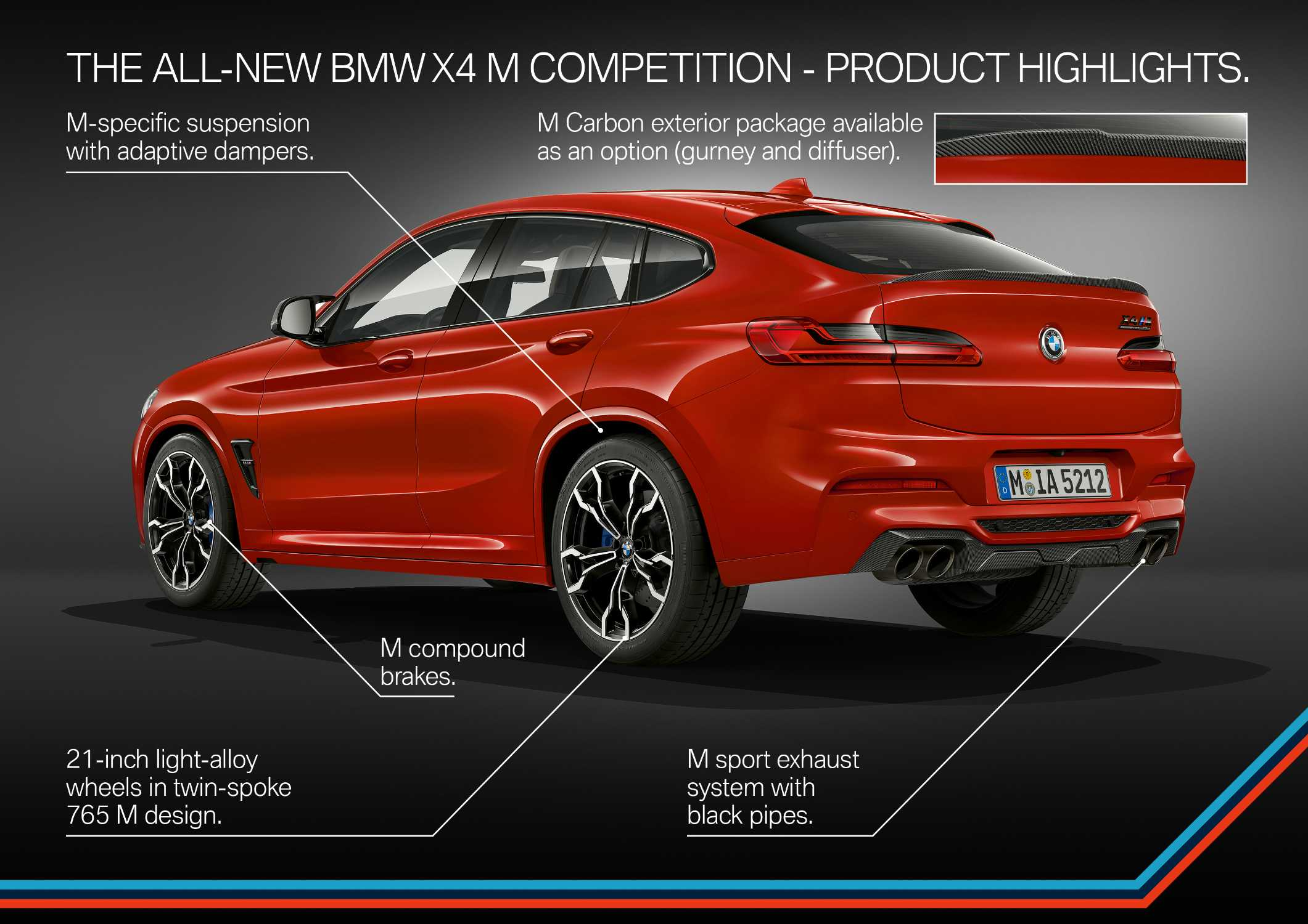 The all-new BMW X4 M Competition (02/2019).