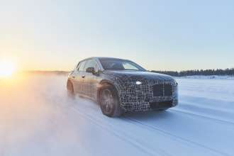 BMW iNEXT undergoes winter trial tests (02/2019).
