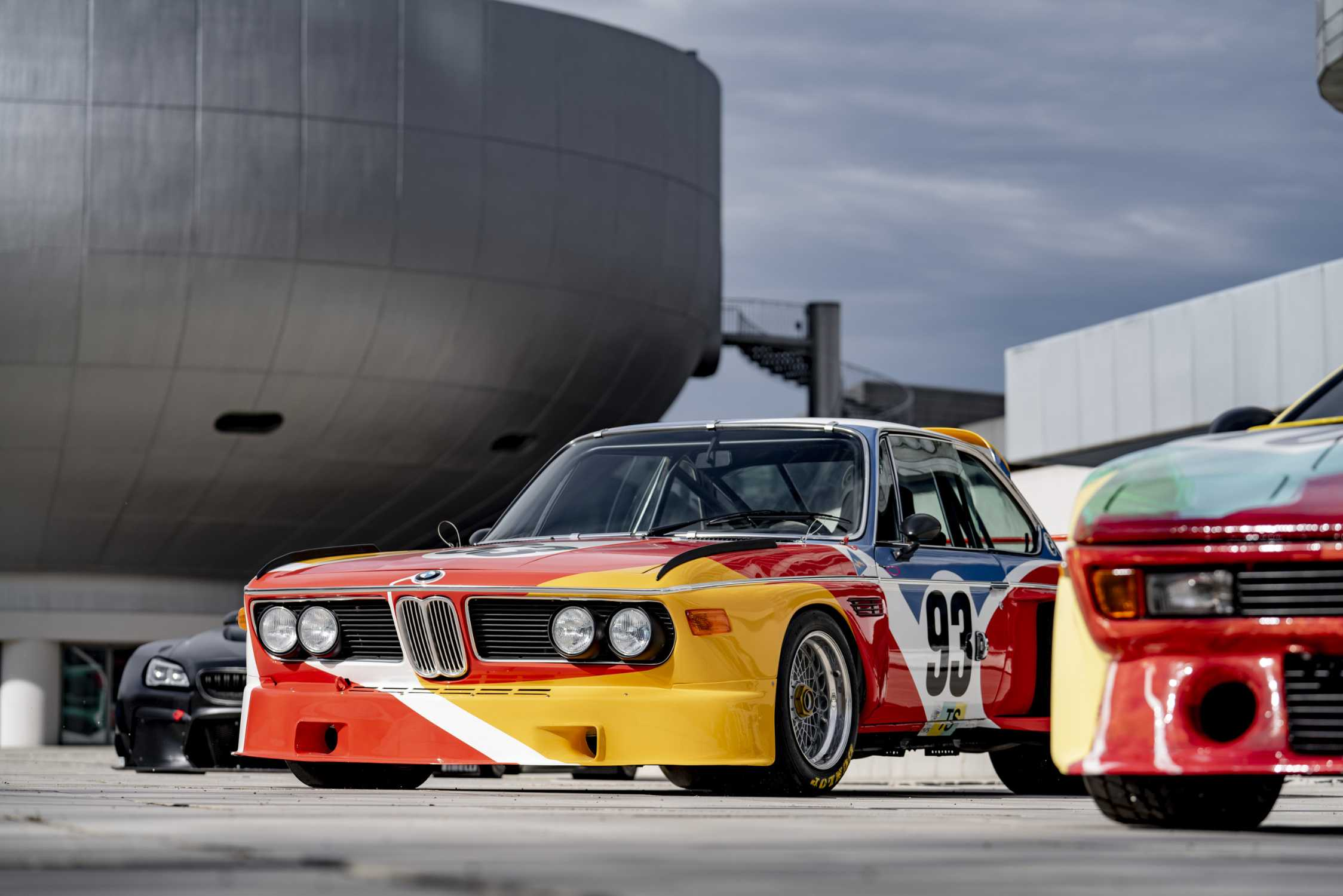Alexander Calder, BMW Art Car, 1975 - BMW 3.0 CSL, in front of the BMW Group Headquarters and BMW Museum in Munich. (03/2019)