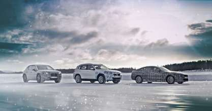 The BMW iNEXT, the BMW i4 and the BMW iX3 undergo winter trial tests (03/2019).