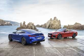The all-new BMW M8 Competition Coupe and the all-net BMW M8 Convertible (06/2019).