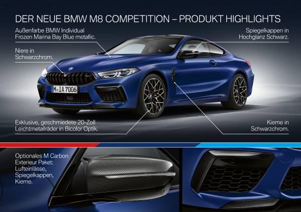 Das neue BMW M8 Competition Coupé und das neue BMW M8 Competition Cabriolet (06/2019).