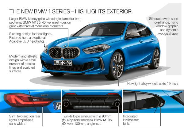 The all-new BMW 1 Series – Product Highlights (05/2019).