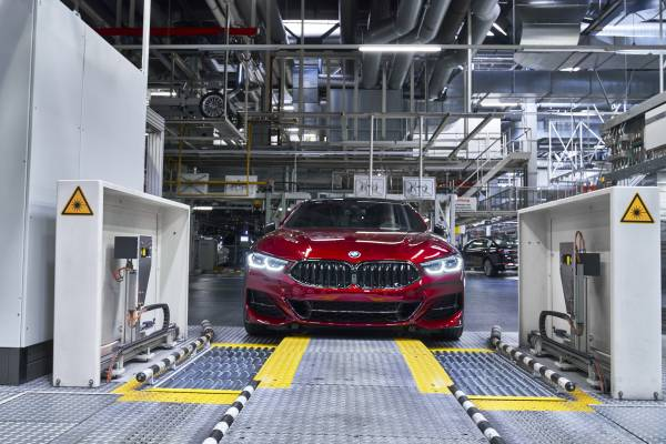 The new BMW 8 Series Gran Coupé in the finish and test area of BMW Group Plant Dingolfing (07/2019)