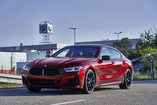 The new BMW 8 Series Gran Coupé on the break-in course at BMW Group Plant Dingolfing (07/2019)