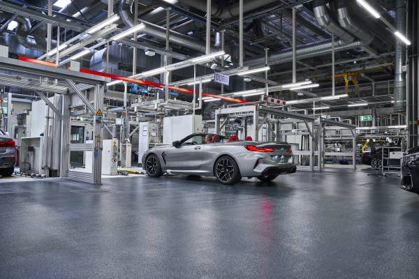 The new BMW M8 Competition Cabriolet in the finish and test area of BMW Group Plant Dingolfing (07/2019)
