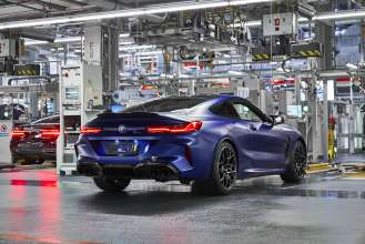The new BMW M8 Competition Coupé in the finish and test area of BMW Group Plant Dingolfing (07/2019)