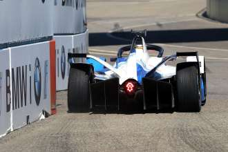 New York (USA) 13th July 2019. ABB FIA Formula E Championship, New York E-Prix, BMW i Andretti Motorsport, Alexander Sims (GBR) BMW iFE.18 #27.