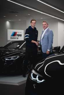 BMW Group Russia and Tennis Player Daniil Medvedev announce partnership for BMW M projects. (09/2019)