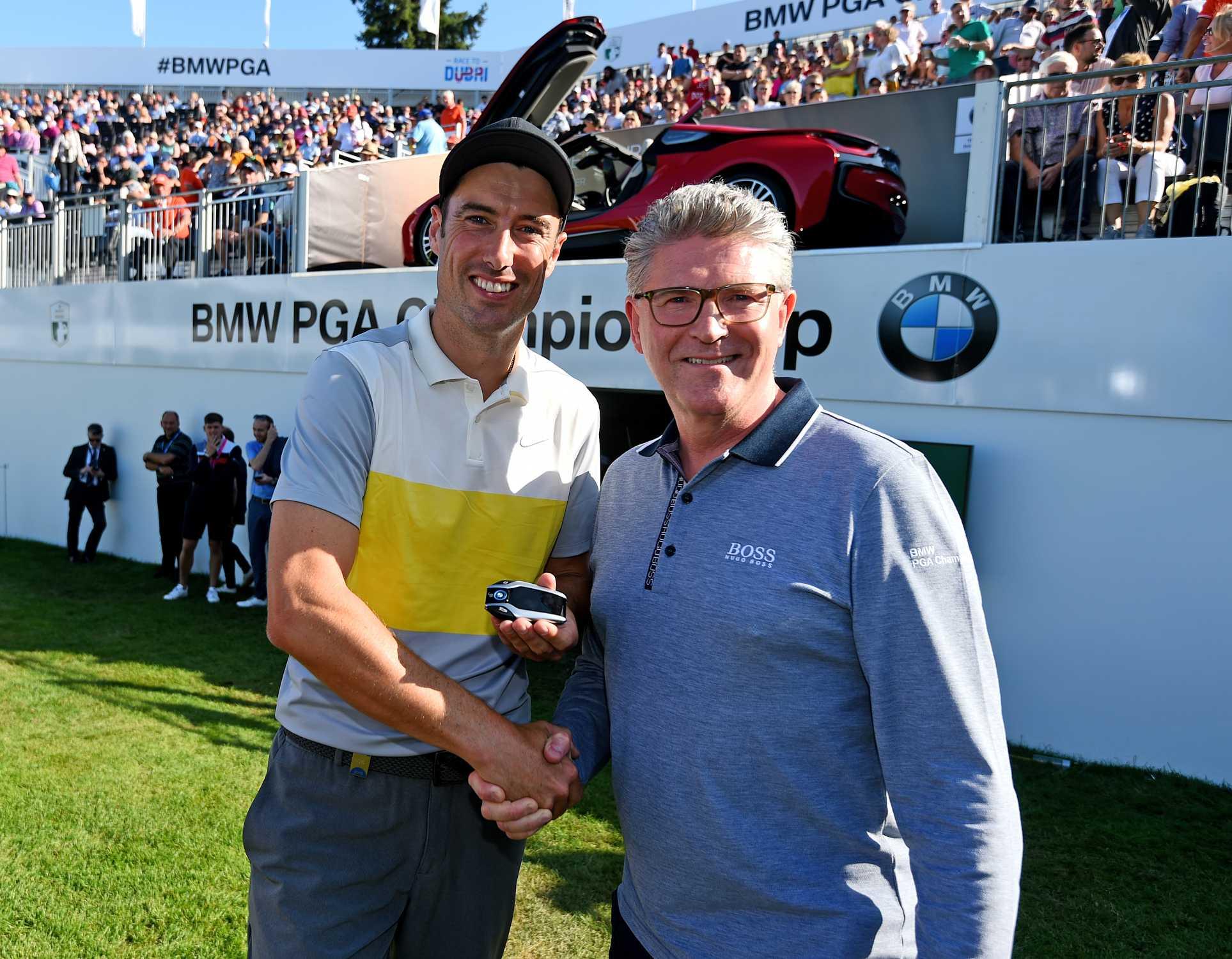 Bmw Pga Championship Ross Fisher Wins Albatross Award Englishman Receives Bmw I8 Roadster For Dream Shot