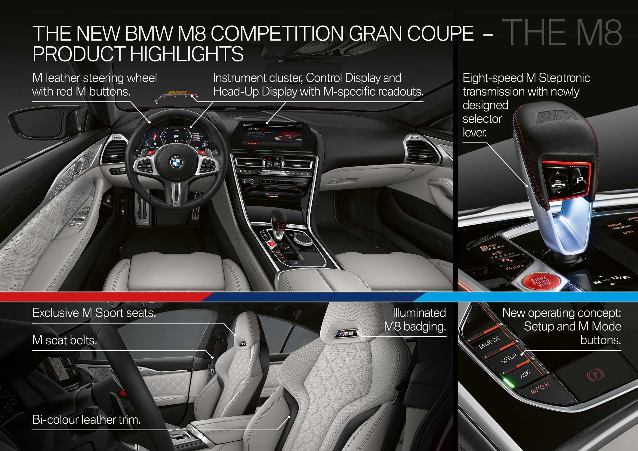The new BMW M8 Gran Coupe and BMW M8 Competition Gran Coupe (10/2019).