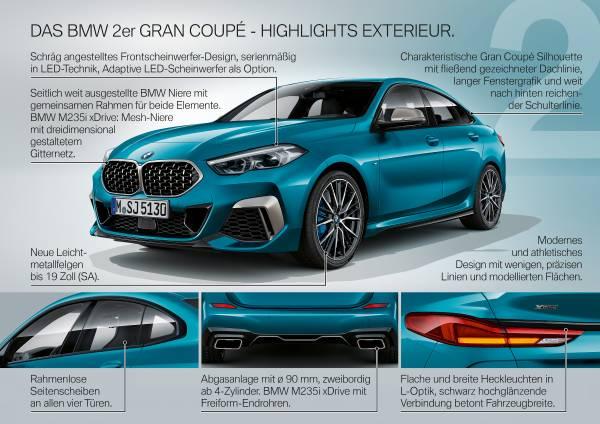 Das neue BMW 2er Gran Coupé – Produkt Highlights (10/2019).