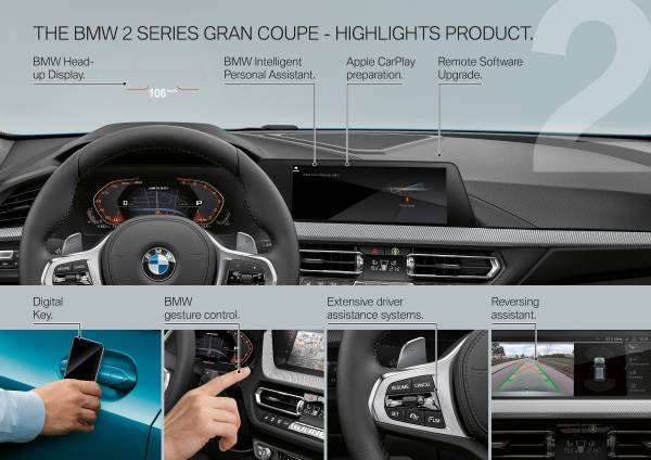The all-new BMW 2 Series Gran Coupe -  Product Highlights (10/2019).