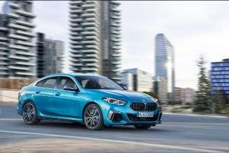 "The all-new BMW 2 Series Gran Coupe, BMW M235i xDrive, Snapper Rocks blue metallic, Rim 19"" Styling 552 M (10/2019)."