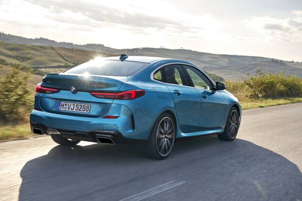 "The all-new BMW 2 Series Gran Coupe, BMW M235i xDrive, Snapper Rocks blue metallic, Rim 19"" Styling 552 M (10/2019)."