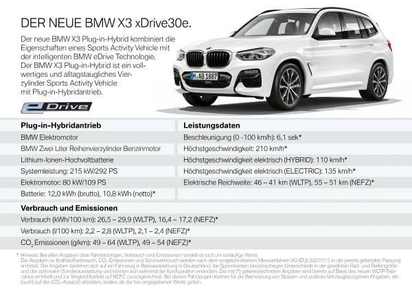 Der neue BMW X3 xDrive30e (10/2919).