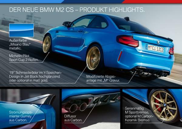 Der neue BMW M2 CS (11/2019).