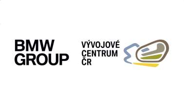 Logo of BMW Group Future Mobility Development Center in the Czech Republic (11/2019)