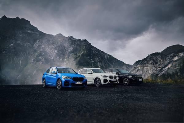 The electrified X model range of BMW (01/2020).